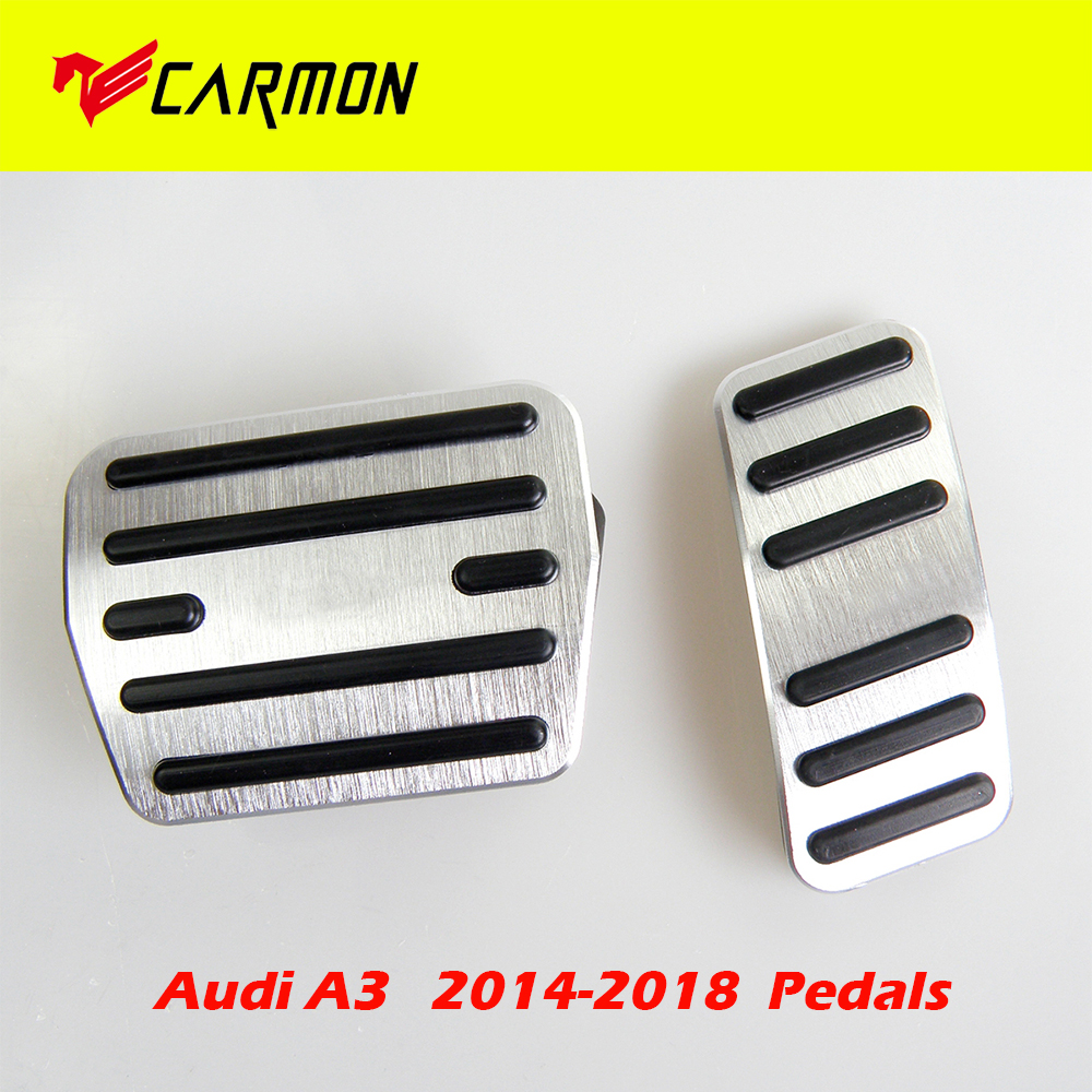 For A3 Q3 Q5 Q7 A6L Car Replacement pedal Rest Pedal Brake And Gas Pedal Covers Accessories Pedals Set Non-Slip AT With LOGO 2Pcs