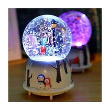 Luminous Musical Snow Globe Sprayed Romantic Valentine's Day Gift Orbs Girl Boy Design Glass Crystal Ball