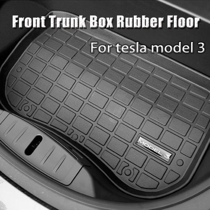 Front Trunk Mat TPE Rubber Floor Waterproof Tasteless For Tesla Model 3 2017 2018 2019  Fit Argo Before Cargo Tray Waterproof