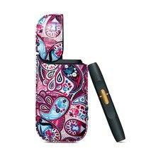 4 Kleuren Bohemian Stijl Pu Lederen Case Voor Iqos Iqos 2.4 Plus Anti-Klop Cover Bag Draagtas Elronic sigaret Funda