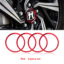 Free Shipping New Fashion Color Modified Car Hub Center Hub Cover Logo Car Decorative Ring Cover for The Honda Civic Generation high quality chrome head light cover for honda civic 2012 free shipping