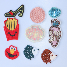 Patches Decorative-Patch Badges-On-The-Backpack Applique Anime Cartoon Embroidered