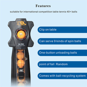 Image 3 - HUIPANG S6 PRO masa tenisi Robot/makine kolay mal uygulama için çok fonksiyonlu geri dönüşüm topları