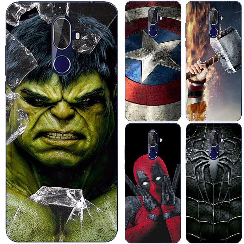 Superhero Phone Case Cover For Cubot R15 R19 R11 R9 H3 Back Cover For Cubot Note S Plus Magic Dinosaur Max 2 Hafury Mix Fundas(China)