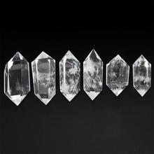 50-60MM 100% Natural White Fluorite Crystal Quartz Stone Point Healing Hexagonal Wand Treatment