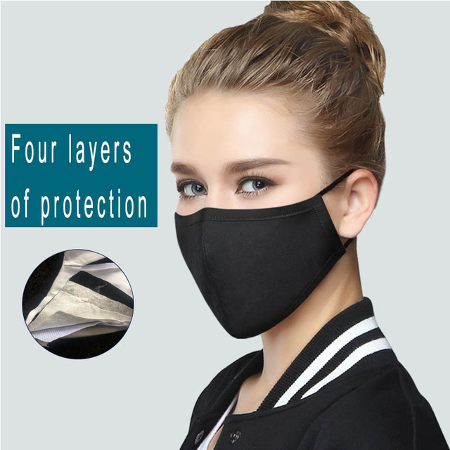 PM2.5 mask anti-dust pollution 10 PCS cotton filter paper anti-bacterial flu facial lovers mask muffle PM2.5 allergy cycle 2
