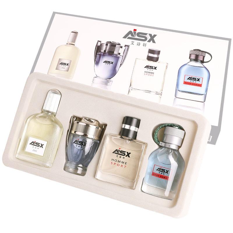 1Set 4pcs 100ml MayCreate Men Pheromone Lasting Fresh Fragrance Mini Bottle Portable Antiperspirants Spray Lotion Soap Freshener