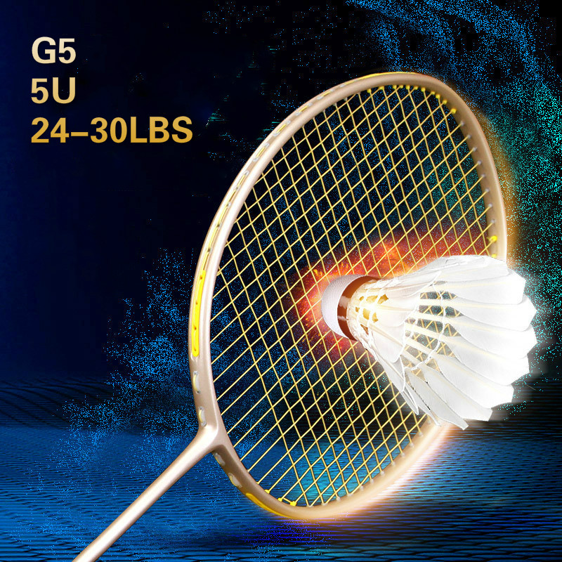Badminton Racket Carbon Badminton Racket 24-30 LBS 5U5 Badminton Racquet With Bag