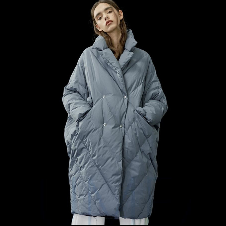 Winter New Arrival Women Plus Size Thicker Warm White Duck Down Coat Jacket Cocoon&Bat Type Thicken Parkas With Big Pocket F121