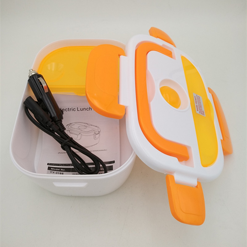 12 В + 220 В/12 в портативный Электрический нагревательный Ланч-бокс, пищевой контейнер, подогреватель еды для детей, 4 пряжки, комплекты посуды д...