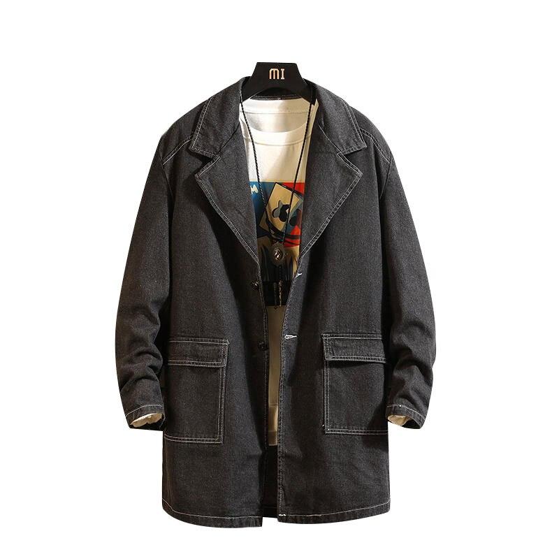 Long Trench Coat Leather Mens Loose Big Bubble Jacket Men Heavy Winter Jacket Ropa Hombre Casual Erkek Mont 2019 GG50dy005