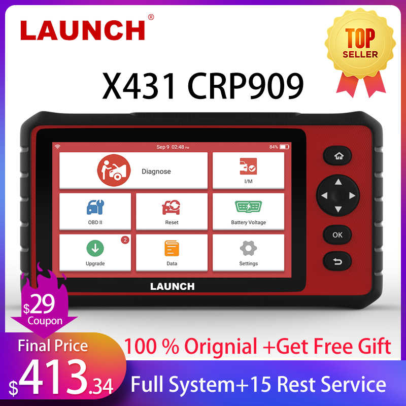 Launch X431 CRP909 OBD2 Scanner Professionele Obd 2 Auto Diagnostische Scanner Airbag Sas Tpms Immo Reset Obd Auto Code Reader launch