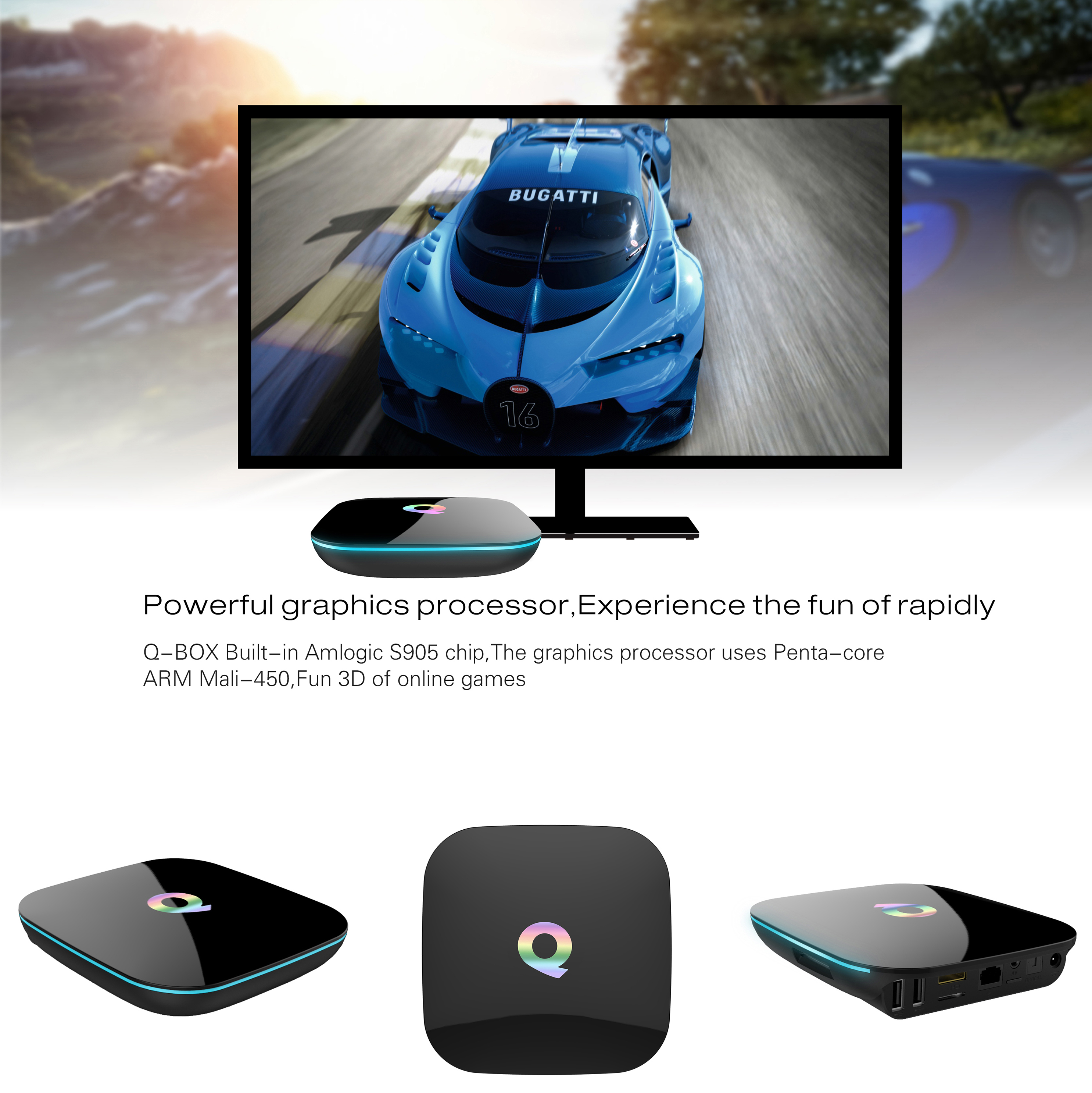 QBOX TV BOX haute Configuration antenne android TV Box M8S réseau décodeur lecteur moderne maison TV boîtier - 5