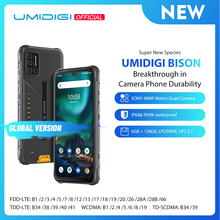 UMIDIGI BISON IP68/IP69K Waterproof Rugged Phone 48MP Matrix Quad Camera 6.3″ FHD+ Display 6GB+128GB NFC Android 10 Smartphone