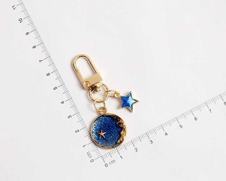Acrylic keyring accessory Flower moon moon acrylic charm flowers