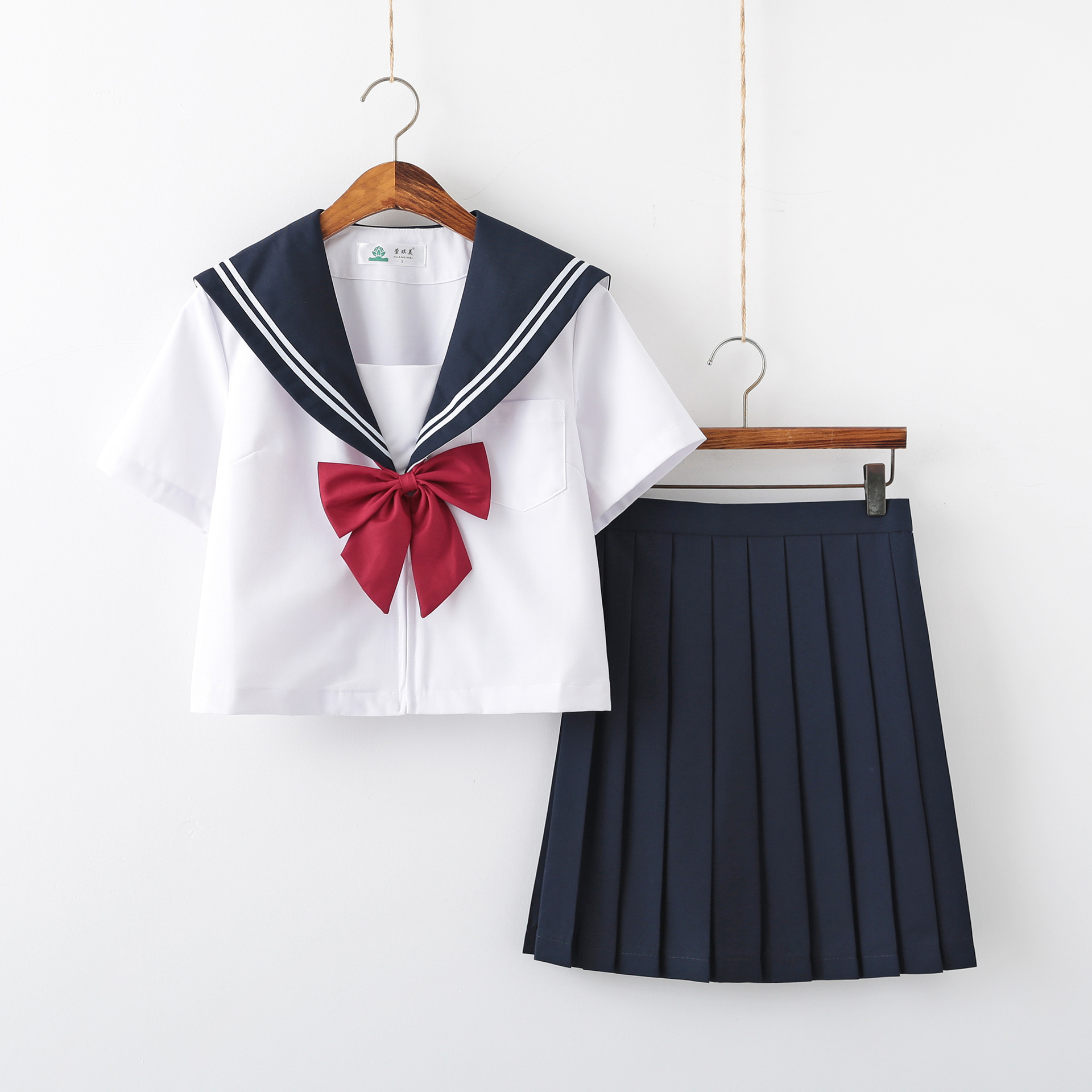 Jk Uniform Sailor Suit Female White Two Basic Models of Japanese Three-piece Suit Class Service College Wind School Girl Outfit