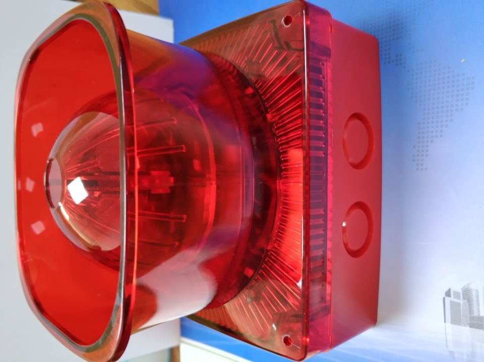 Waterproof Conventional Fire Alarm Horn Strobe  Flash And Light SirenDC24V Outdoor Sound Alarm In Square Shape
