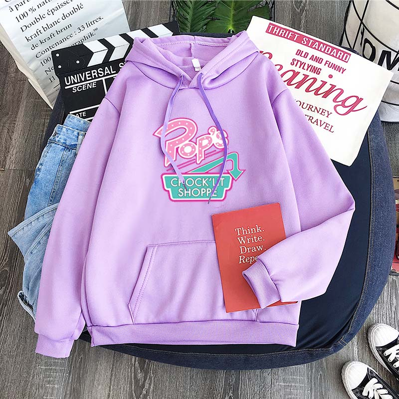2020 New Korean Harajuku Sweatshirt Hoodie River Valley Town Pub Riverdale Retro Print Pattern Fleece Top Hoody