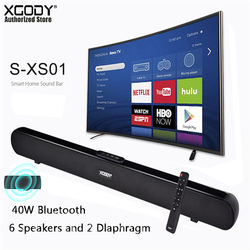Xgody S-XS01 40W Bluetooth Sound Bar TV Speaker Wired & Wireless Speaker 34 2.0 Channel With Coaxial/Optical/USB/Remote Control