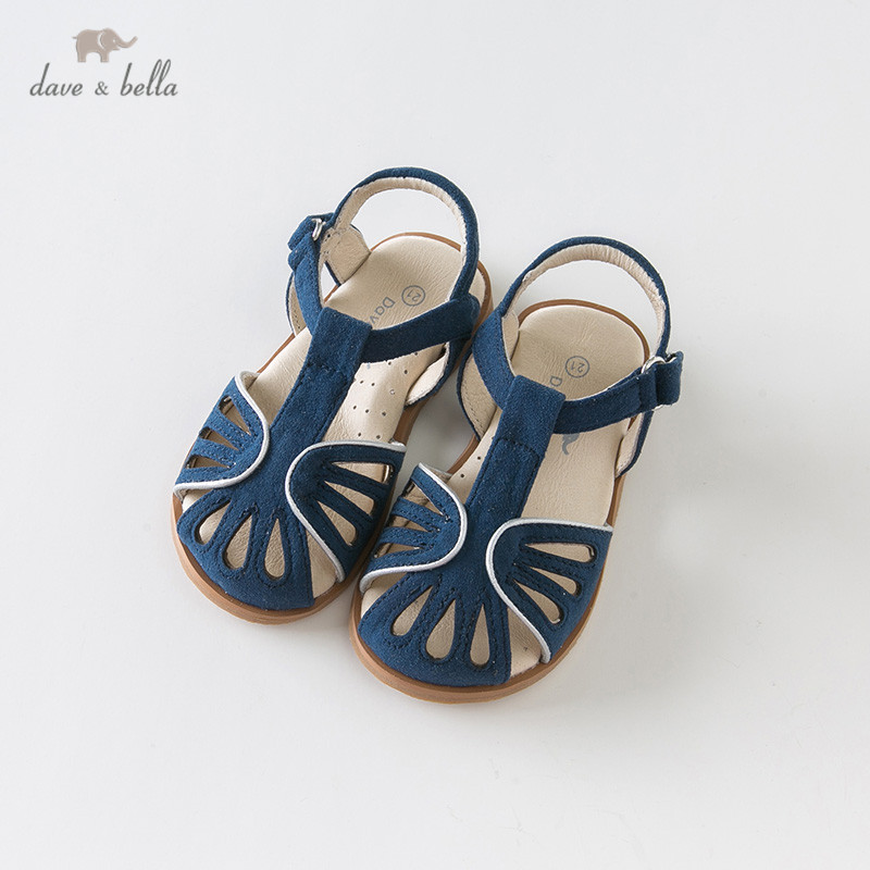 DB12854 Dave Bella Summer Baby Girls Fashion Sandals New Born Infant Shoes Sandals Solid Shoes