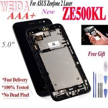 купить WEIDA For ASUS Zenfone 2 Laser ZE500KL Z00ED LCD Display Touch Screen Digitizer Assembly  5.0 Inch with Frame +Tool по цене 1278.38 рублей