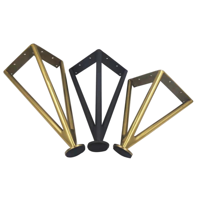 1pcs Adjustable Black Golden Furniture Legs Feet Stainless Steel Table Carbinet Bed Coach Foot Home Office Accessory 15-30cm