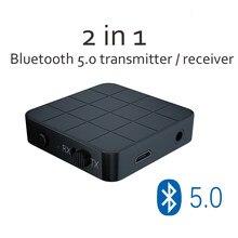 Transmetteur récepteur Bluetooth 3.5 2 en 1, adaptateur sans fil, Dongle Audio stéréo, 5.0mm, pour télévision, voiture, maison, haut-parleurs, KN321