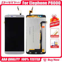 BingYeNing Neue Original Für Elefon P8000 Touch Screen + LCD Display + Rahmen Montage Ersatz
