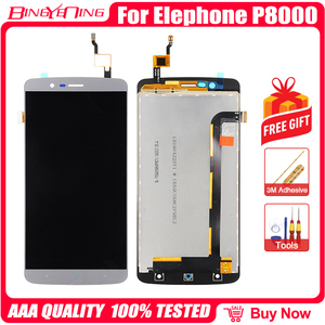 Image 2 - BingYeNing New Original For Elephone P8000 Touch Screen +  LCD Display+Frame Assembly Replacement