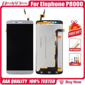 Image 2 - Bingyeng جديد الأصلي ل Elephone P8000 شاشة تعمل باللمس شاشة الكريستال السائل الإطار الجمعية استبدال