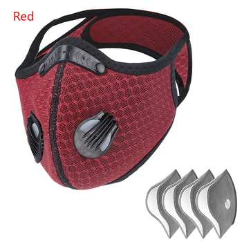 Cycling Face Mask Activated Carbon With Filter PM2.5 Anti-Pollution Bike Sport Protection Dust Mask Reusable Cycling Sport Mask