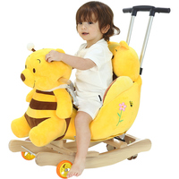 Baby Rocking Hose Swing Chair Cradle Baby Bouncer Kids Ride on Toys Early Education Push Trolley Birthday Gifts