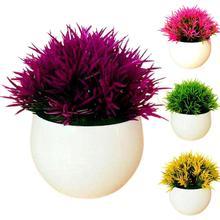 Искусственный Горшок для растений, не выцветает, реалистичный пластиковый офисный стол, имитация растений, горшок для дома