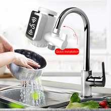 Electric Hot Faucet Water Heater Kitchen Cold Heating Faucet Tankless Digital Instantaneous hot and cold Water Tap with Adapter