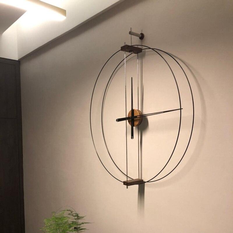 Простые испанские современные домашние художественные часы, креативные, легкие, Роскошные Настенные часы, минималистичные индивидуальные ...