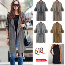 Womens trench coats 2020 spring new fashion Casual Plaid Long coat Turn-down Col