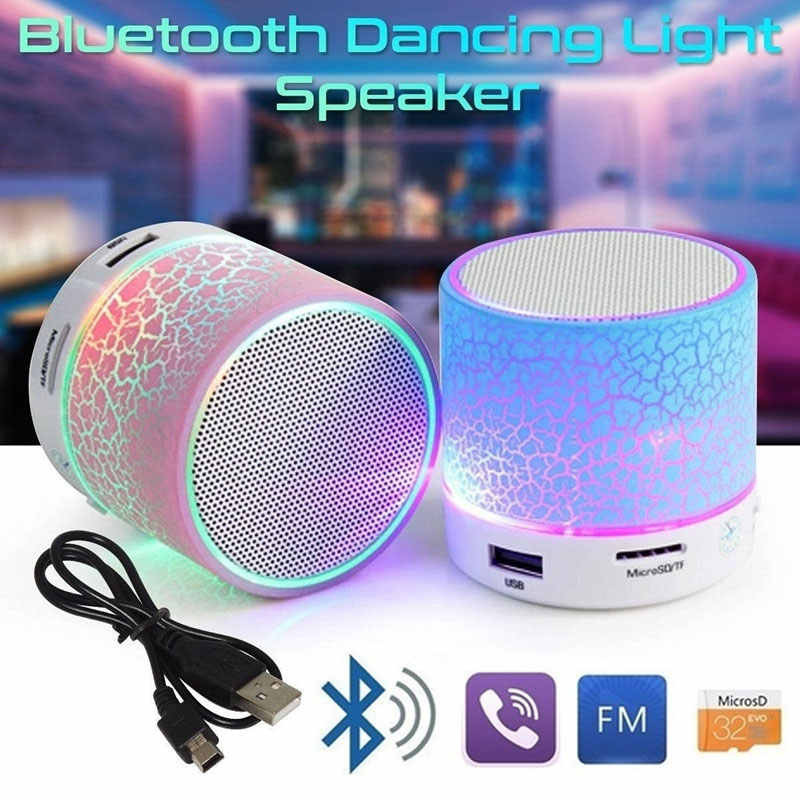 Cewaal Bluetooth Speaker Mini Nirkabel Loudspeaker Crack LED Tf Usb Subwoofer Bluetooth Speaker MP3 Stereo Audio Musik Player