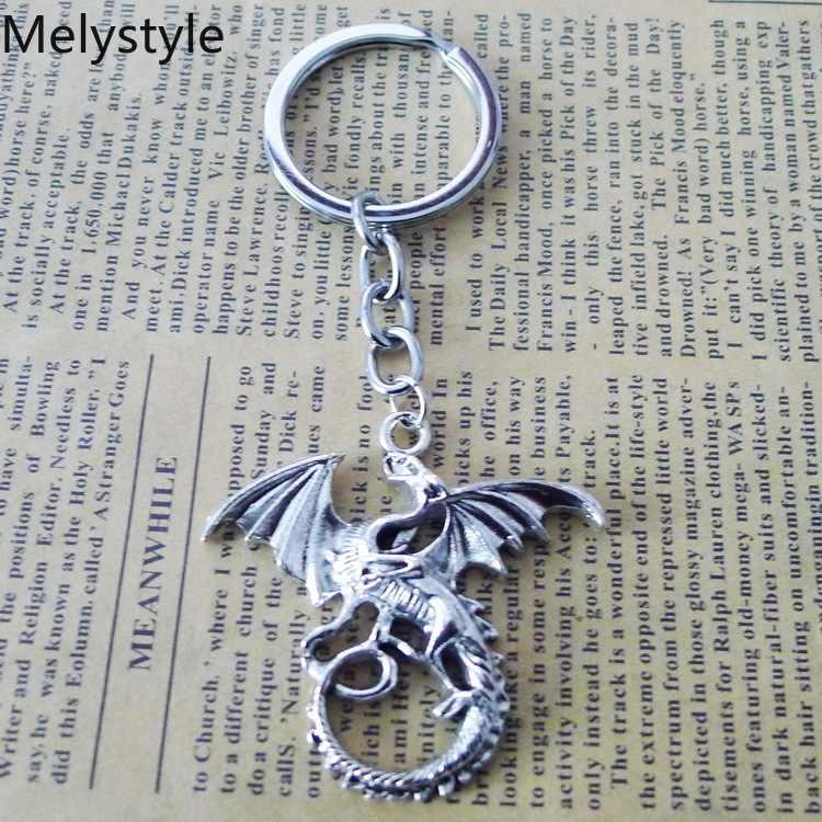 2019 Game-Thrones Fashion Creative Fly-Dragon brelok metalowe wiszące breloczek na prezent brelok do kluczyków do samochodu biżuteria