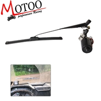 Universal UTV 12 Volt Electric Windshield Wiper Kit for Polaris Ranger RZR Can Am Windshield Wiper Blades Assembly