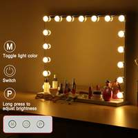17 LED Cosmetic Hollywood Makeup Mirror With Light LED Bulbs Vanity Beauty Dressing Room