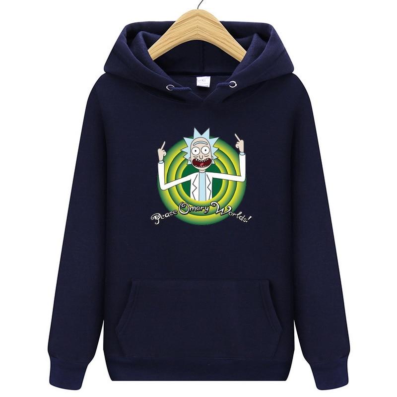 2019 Hot Rick Morty Hoodie Sweatshirt New Man/Woman Pullover Casual Fashion High Quality Print Harajuku Hip Hop Streetwear Tops