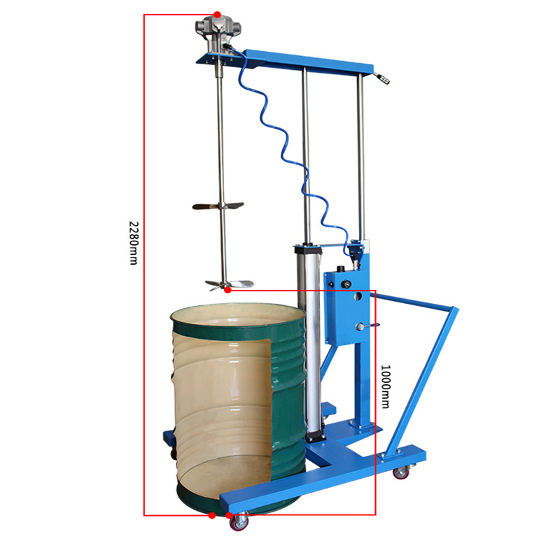 Dam4-tu Multi-function Mixer Cycle Working Paint Paint 50 Gallon Pneumatic Mixer