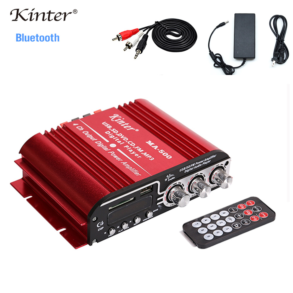 kinter MA-500 Sound Amplifier Audio <font><b>4.0</b></font> Channels <font><b>Hifi</b></font> Stereo Amplifiers With <font><b>Bluetooth</b></font> SD USB Input FM Radio DC12V Power Adapter image