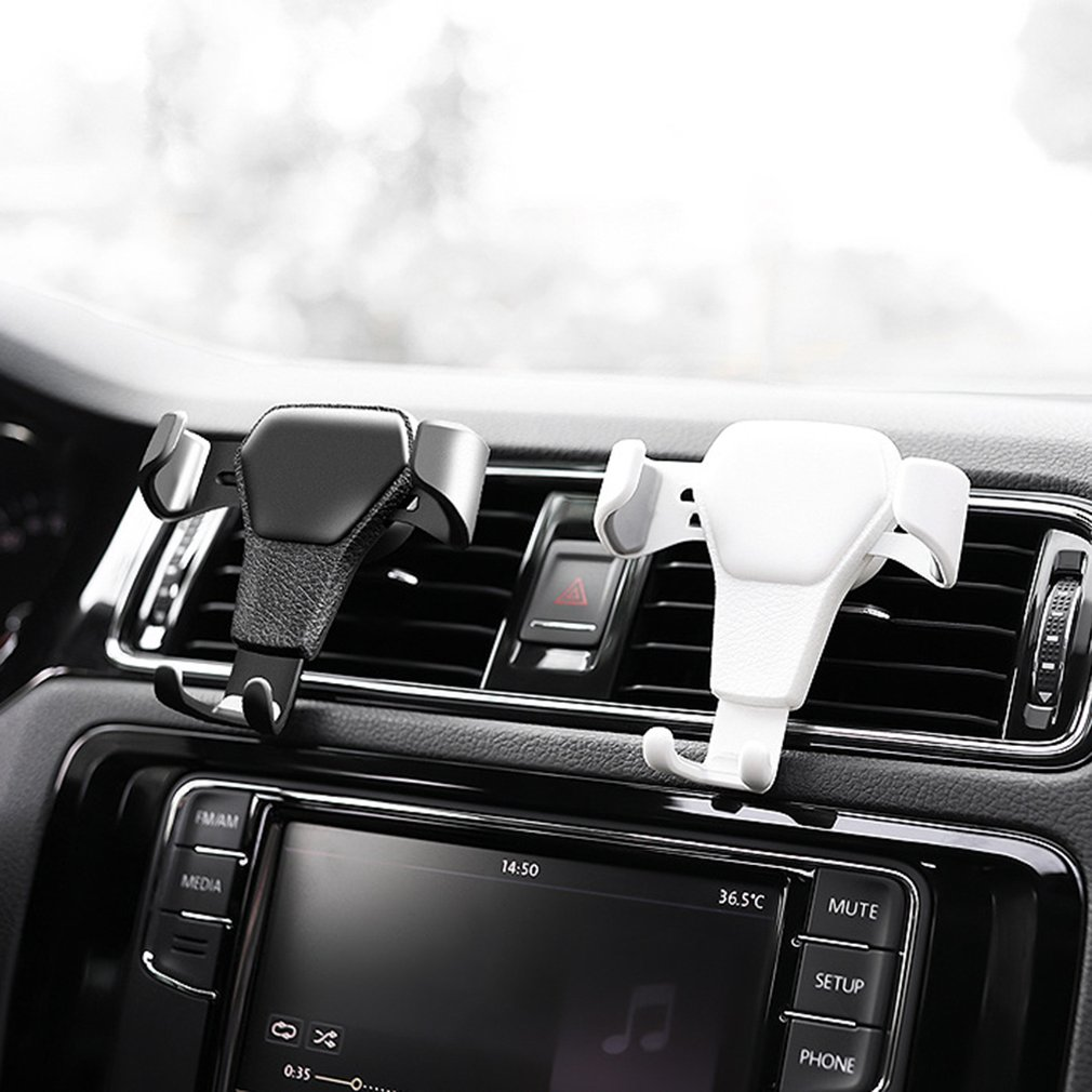 Gravity Car Phone Holder Flexible Universal Car Bracket For Phone In Car Air Vent Clip Mount Support Mobile Phone Stand