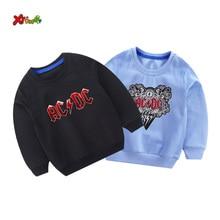 kids sweatshirts toddler boys autumn ACDC Kids fashion Sweatshirt white baby girl Cotton Pullover cute long sleeves