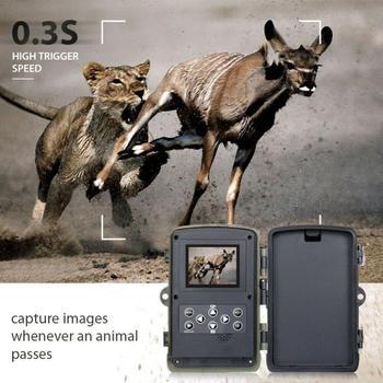 16MP 32GB/64GB Trail Camera IP65 Photo Traps 0.3s Trigger Time 940nm Wild Camera 1080P Waterproof  Hunting Camera 1