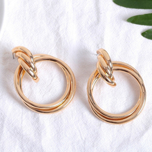 2019 New Special Offer Earing Brinco Pendientes Europeans And Americans Exaggerate Metal Wind Alloy Ring Earrings Female
