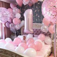 Globos de fiesta de cumpleaños para niño y niña de 1 año, globos para Baby Shower de 40 pulgadas, decoración de confeti de estrellas para fiesta de cumpleaños