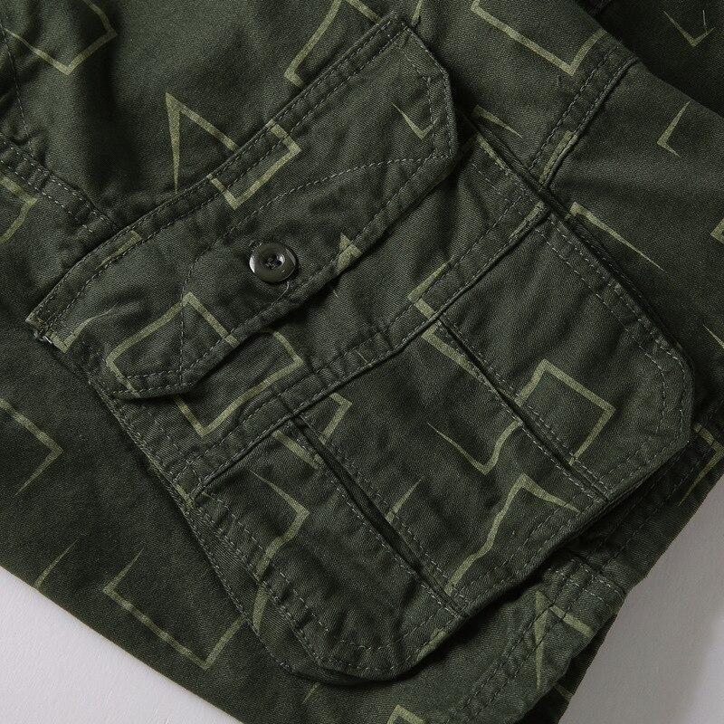 100% algodão imprimir calças soltas bolso streetwear