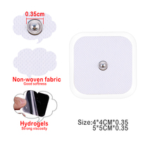 100/50Pcs White Electrode Pads Physiotherapeutic Patches Replacement Tens Massagers Machine Electronic Physiotherapy Massager